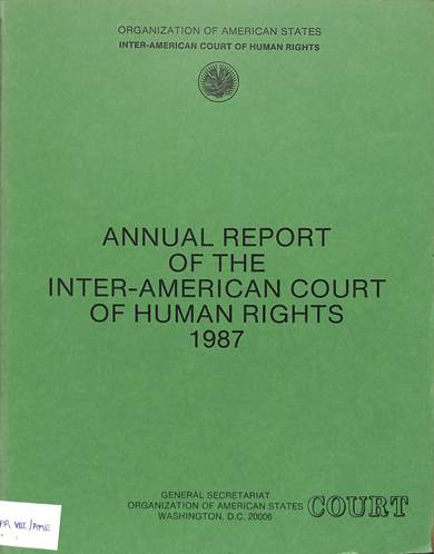 Annual report of the inter-American commission on human rights 1987