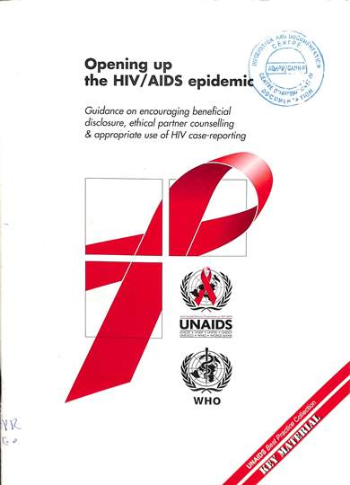 Opening up the HIV/AIDS epidemic