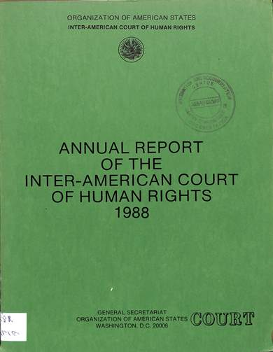 Annual report of the inter-American commission on human rights 1988