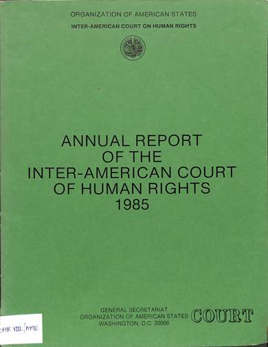 Annual report of the inter-American commission on human rights 1985