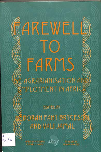 Farewell to Farms: De-agrianisation and employment in Africa