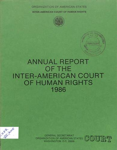 Annual report of the inter-American commission on human rights 1986