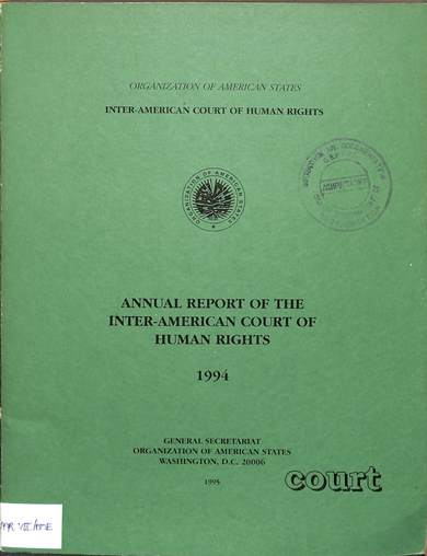 Annual report of the inter-American commission on human rights 1994