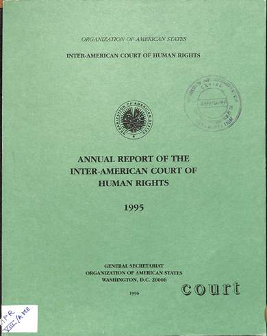 Annual report of the inter-American commission on human rights 1995