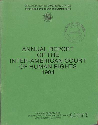Annual report of the inter-American commission on human rights 1984