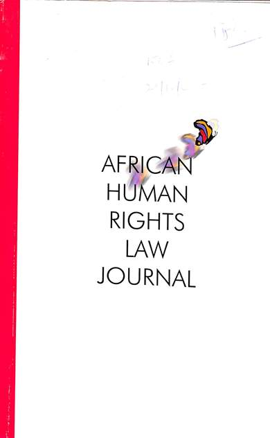 African human rights law journal: Volume 1 2001