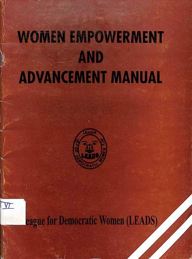 Women empowerment and advancement manual