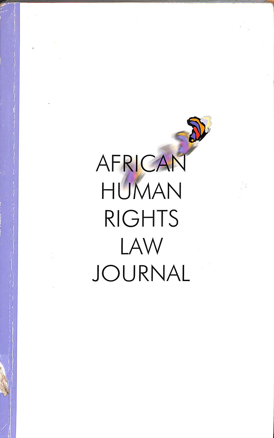 African human rights law journal: Volume 7 2007