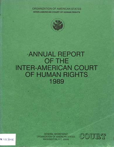 Annual report of the inter-American commission on human rights 1989