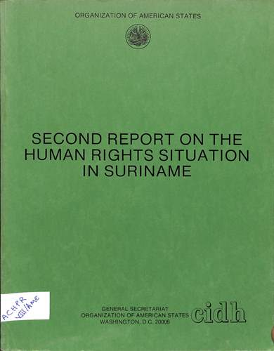 Second report on the human rights situation in Suriname