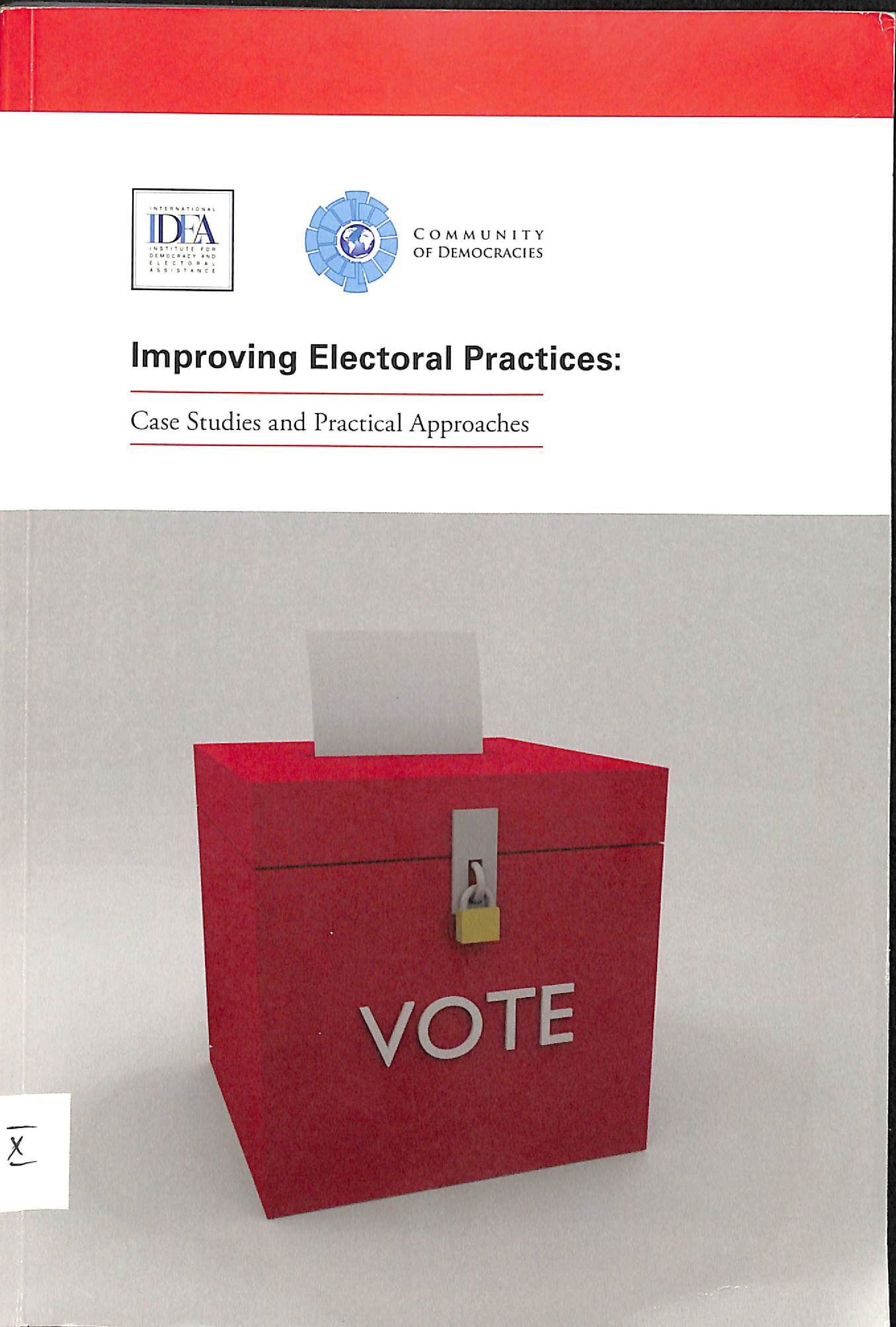 Improving electoral practices: case studies and practical approaches