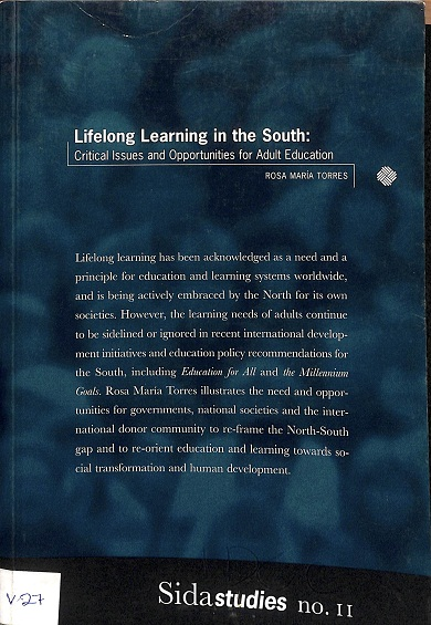 Lifelong learning in the South : critical issues and opportunities for adult education