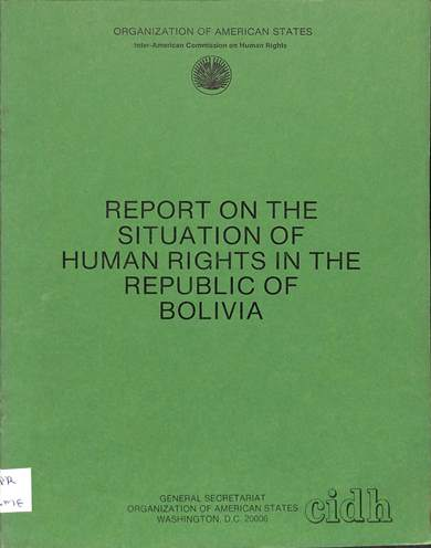 Report on the situation of human rights in Bolivia
