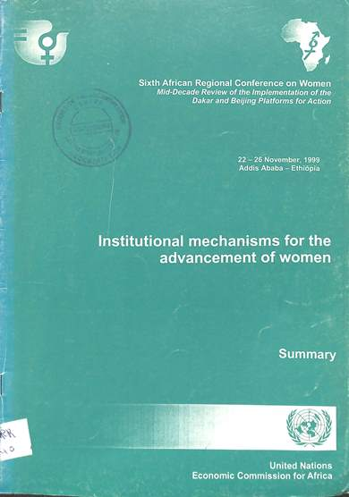 Institutional mechanisms for the advancement of women
