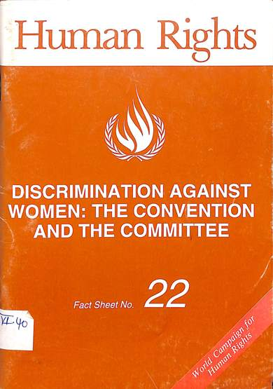 Discrimination against women : The convention and the committee