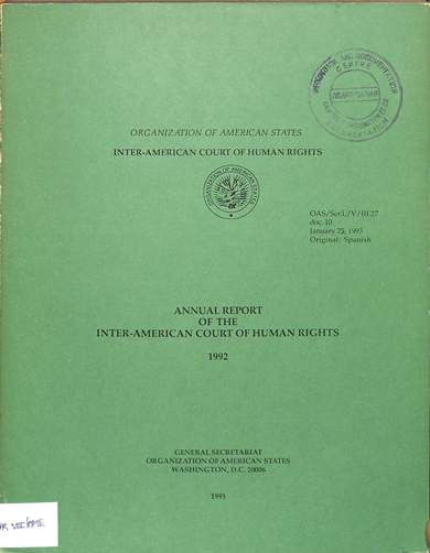 Annual report of the inter-American commission on human rights 1992