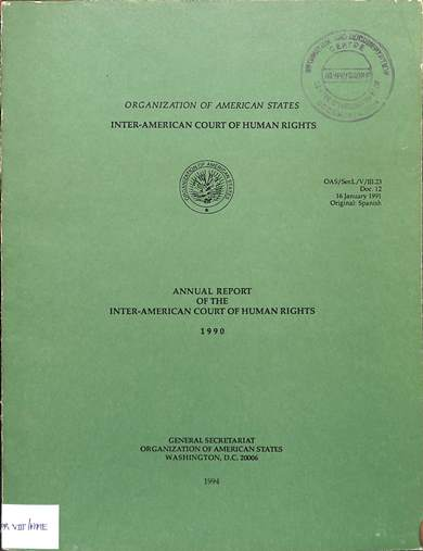 Annual report of the inter-American commission on human rights 1990