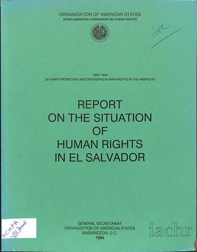 Report on the situation of human rights in El Salvador
