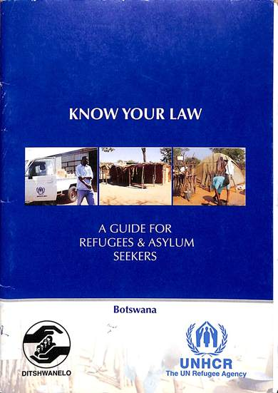 Know your law: A guide for refugees and asylum seekers