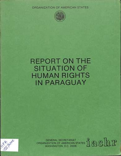 Report on the situation of human rights in Paraguay
